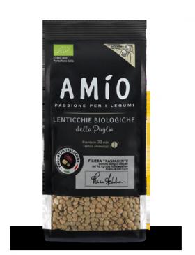 Organic green lentilsfrom Apulia