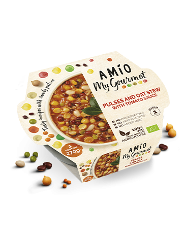 AMÍO My Gourmet Pulses and oat stew whit tomatoauce