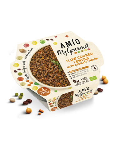 AMÍO My Gourmet slow cooked lentils whit aromatic herbs